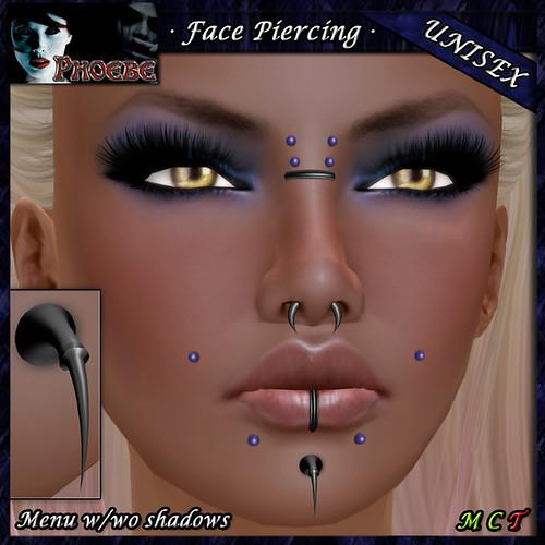 *P* Unisex Face Piercing Odin ~Midsummer Nights~