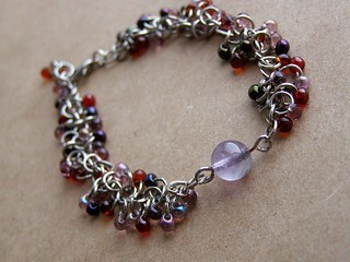 Bracelet - Grape Vine. With Amethyst.