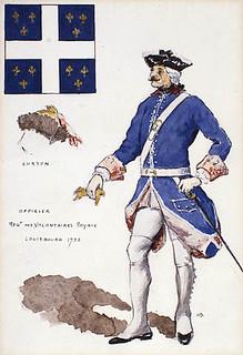 Royal regiments – Officer of the Régiment des volontaires royaux, Louisbourg, Nova Scotia, 1758 / Régiments royaux – un officier du Régiment des volontaires royaux, Louisbourg (Nouvelle-Écosse), 1758