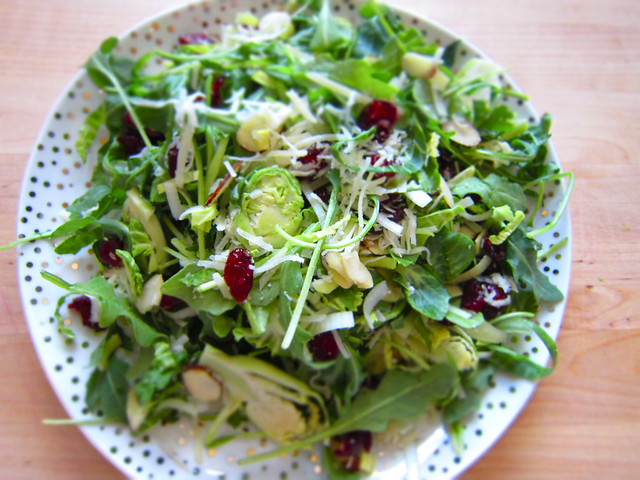 recipe: Arugula & Brussel Sprouts Garden Salad