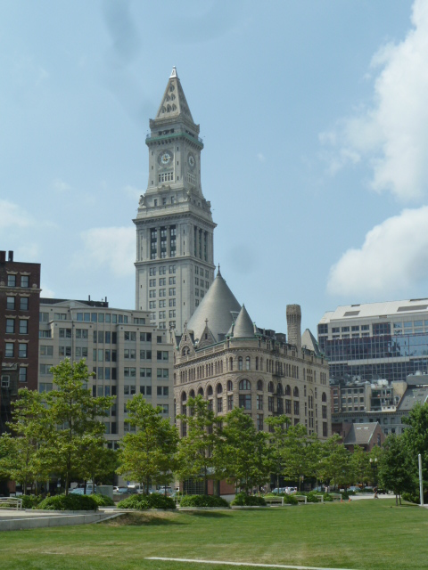 View from the Rose Kennedy Greenway Boston