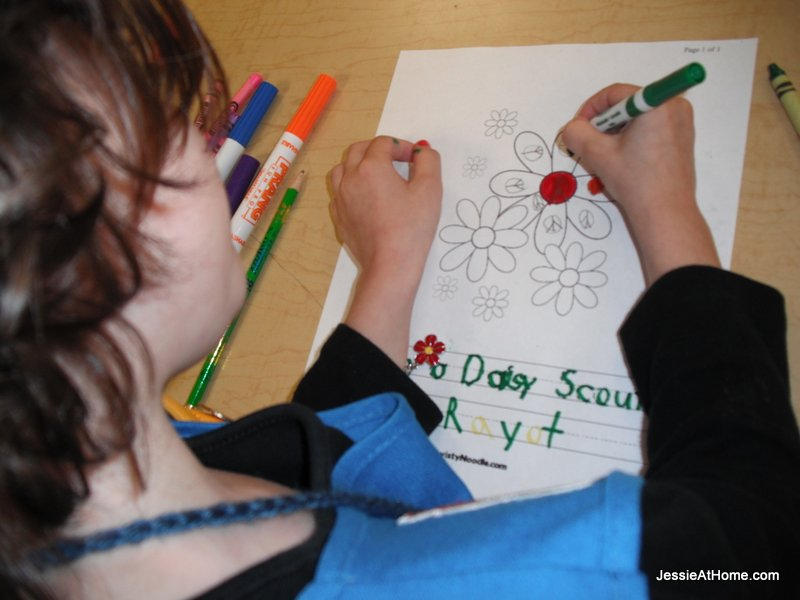 more-coloring-at-Last-girl-scout-meeting-2013
