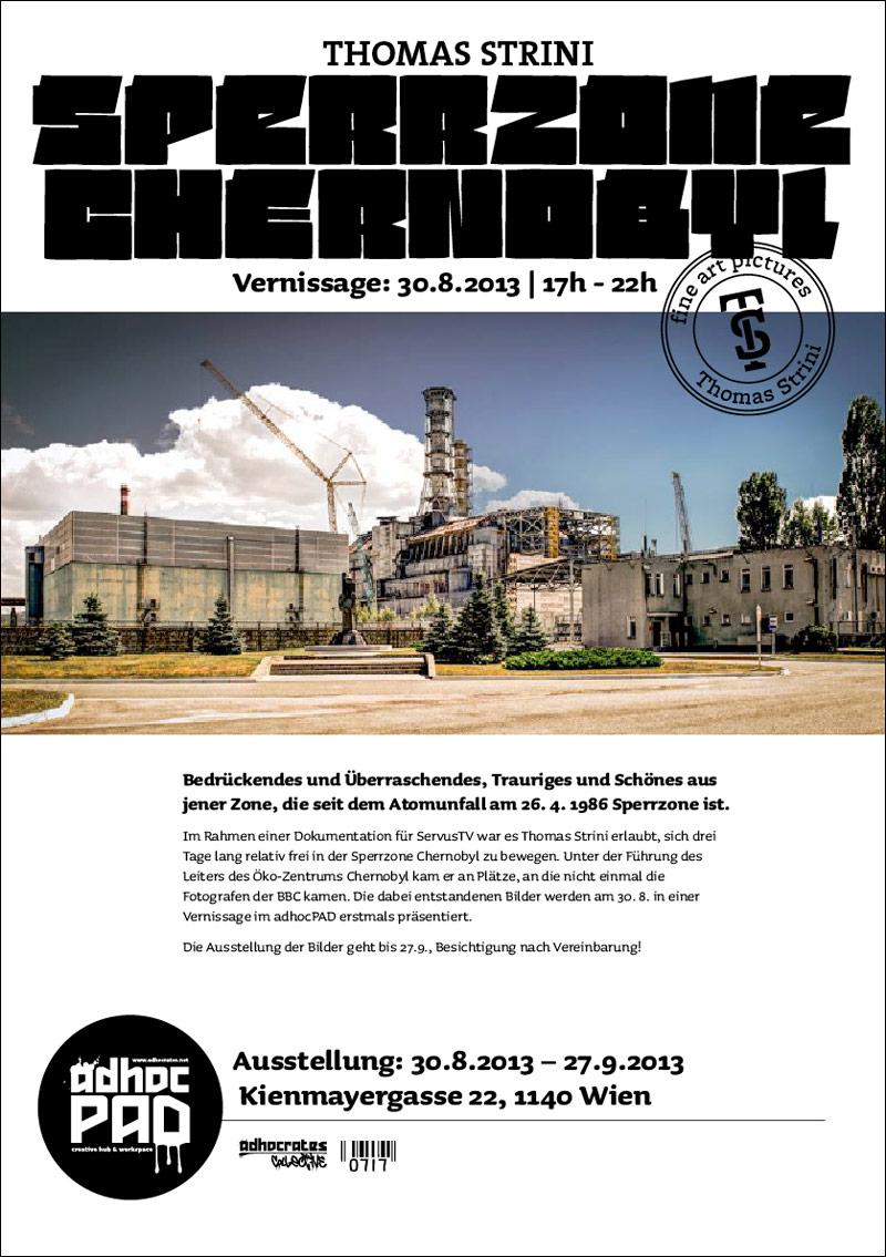 Einladung zur Ausstellung Sperrzone Chernobyl