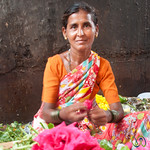 Dadar Flower Market, Rose Vendor - Mumbai, India