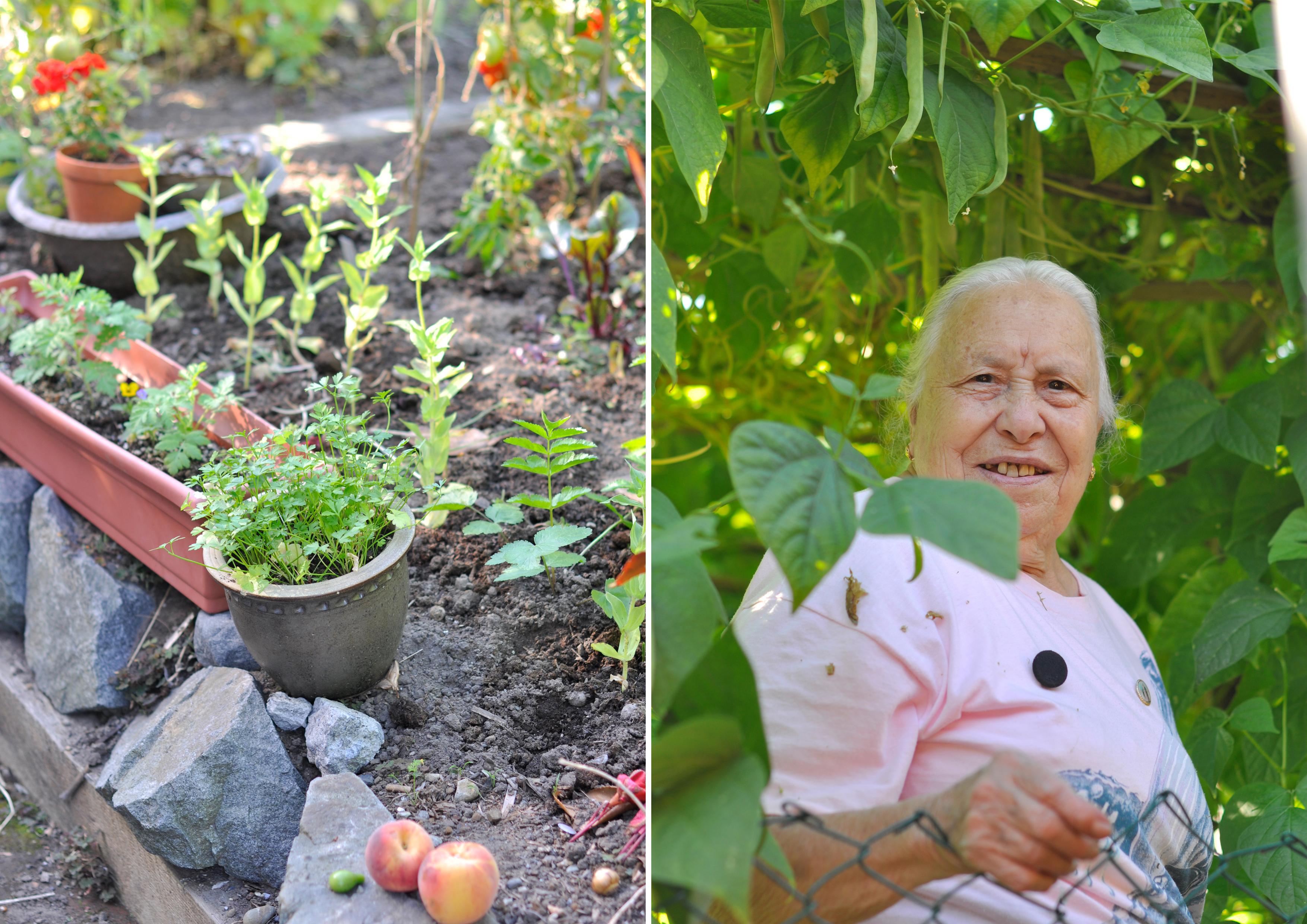 Maria and the garden