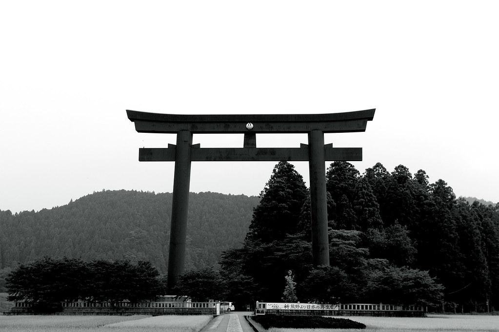 大鳥居(大斎原)|熊野古道