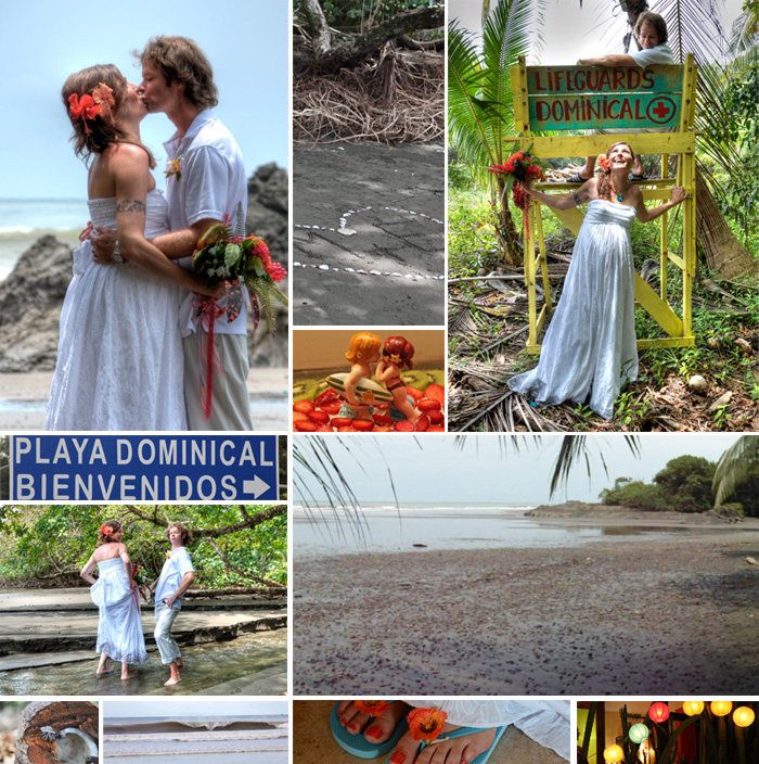Marianne's (of DesignYourOwnBlog.com) wedding in Dominical, Costa Rica