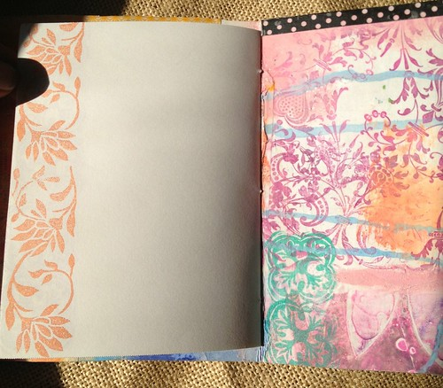 Small Art Journal Series Inside page-stamped