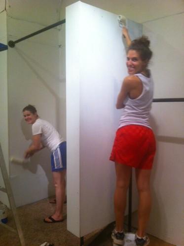 painting the dressing room