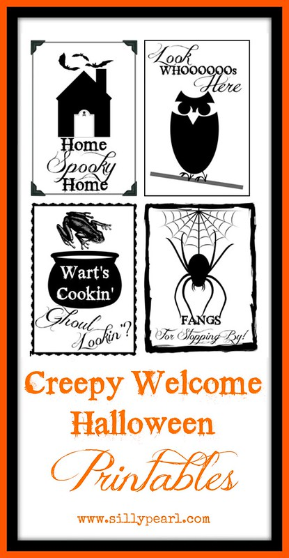 Creepy Welcome Halloween Free Printables - The Silly Pearl