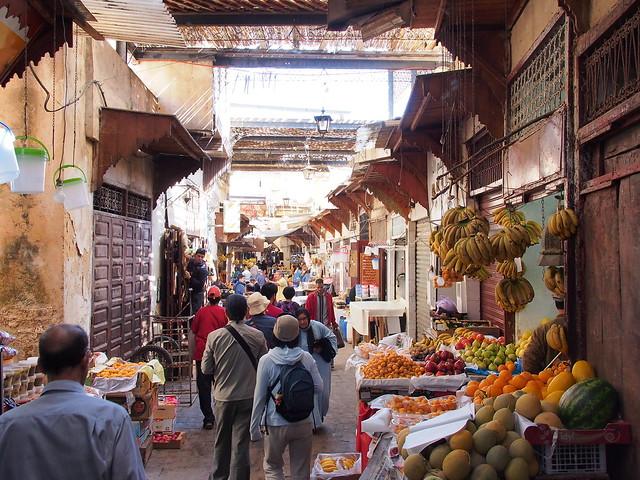 Fes古城的市場