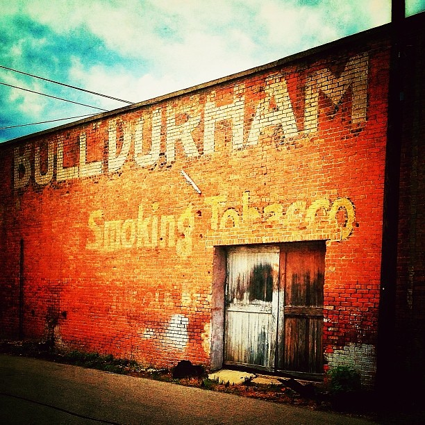 Bull Durham Smoking Tobacco ghost sign -- 401 Elm Street, in Waco, Texas