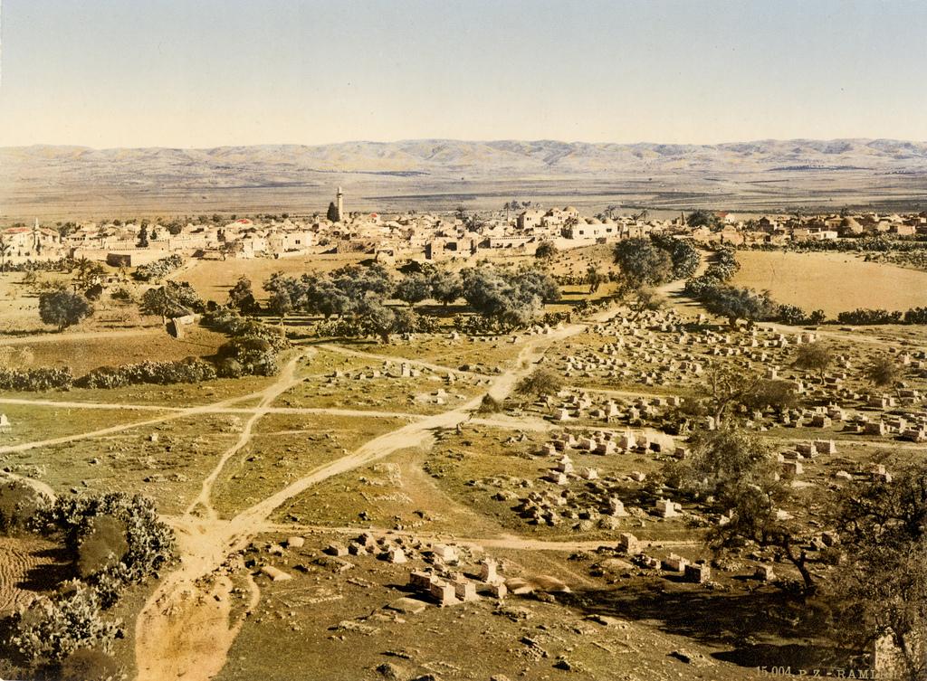 15. Vista desde la Torre de los Cuarenta Mártires, en Ramleh. 1895. Autor, Trialsanderrors