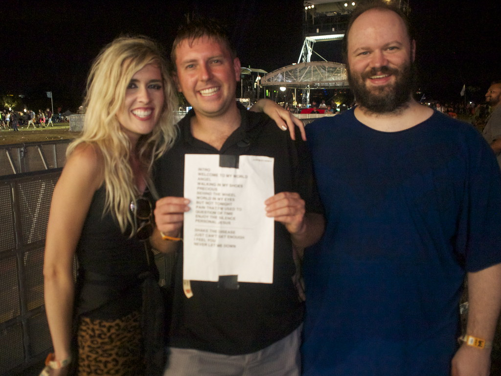 The people who got the Depeche Mode setlist, second weekend of Austin City Limits Festival, 2013