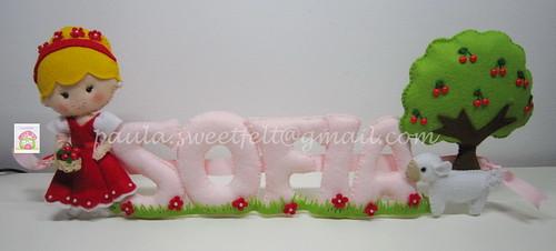 ♥♥♥ Cerejas e uma ovelhinha para a Sofia... by sweetfelt \ ideias em feltro