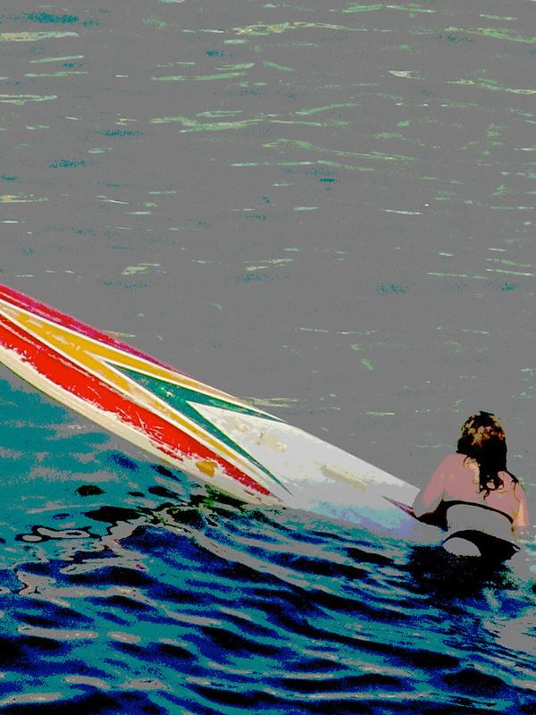 Surfista posterizada