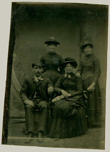 Tintype family of four