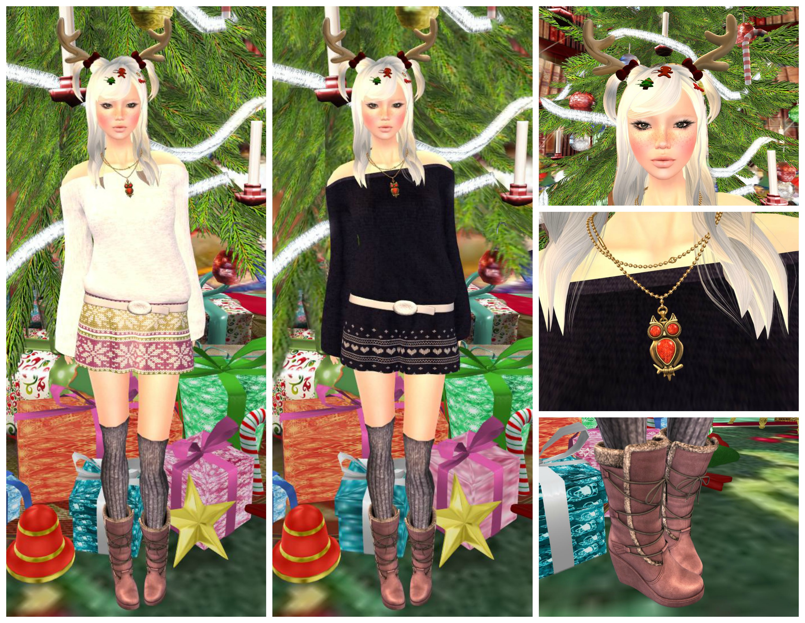 Eyelure Off shoulder knit dress  feat Tableau Vivant & MG