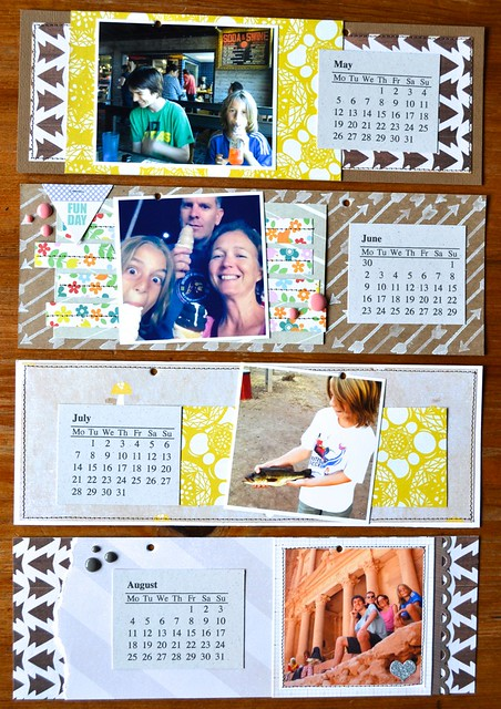 2014 photo calendar May-Aug