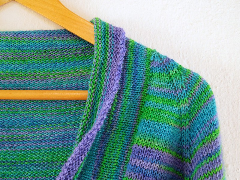 Featherweight cardigan in Shades of Light yarn
