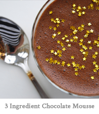 3 Ingredient Chocolate Mousse