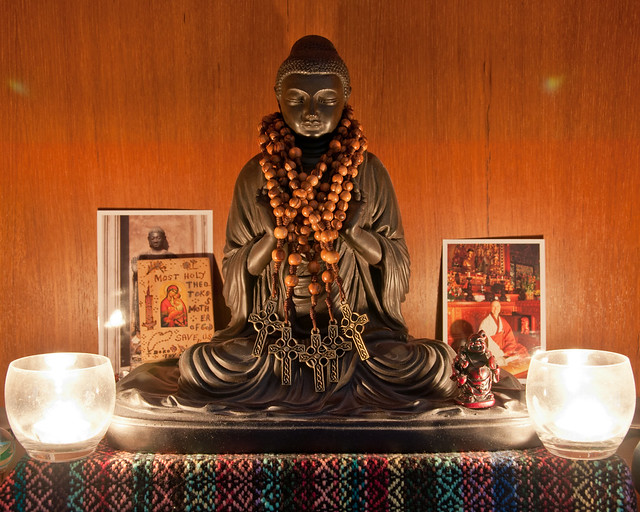 Amida Buddha guards the Rosaries While They Dry