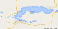 Map of Lake Peten Itza