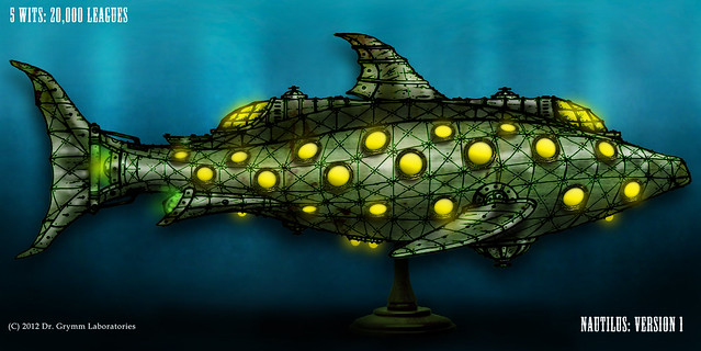 Steampunk nautilus render flickr photo sharing for Nautilus garden designs
