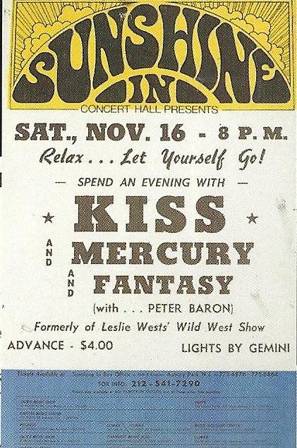 11/16/74 Kiss/ Mercury/ Fantasy @ Asbury Park, NJ