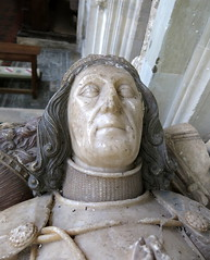 John De La Pole, Duke of Suffolk (d.1491), apparently sculpted from life in this alabaster effigy in the Church of St Andrew, Wingfield, Suffolk, England