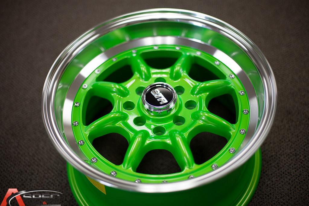 Str 504 15x8 4x100 1143 25 Neon Green Machined Lip Wm 4 Flickr
