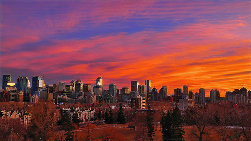 Calgary Skyline & Sensational Sunset (Explore # 4 March 4th 2014)