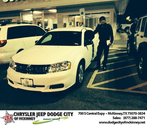 Thank you to Ivar Rodas on your new 2014 #Dodge #Avenger from Dale Graham Graham and everyone at Dodge City of McKinney! #NewCar by Dodge City McKinney Texas