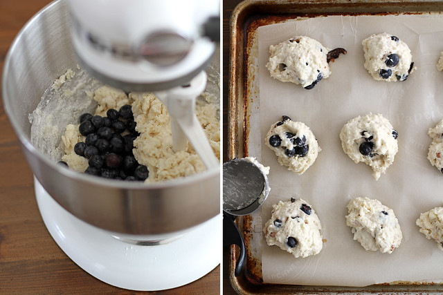 blueberry buttermilk drop biscuits
