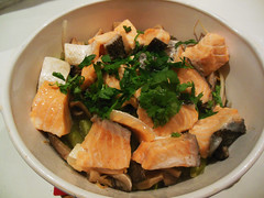 Salmon Rice Kamameshi Style