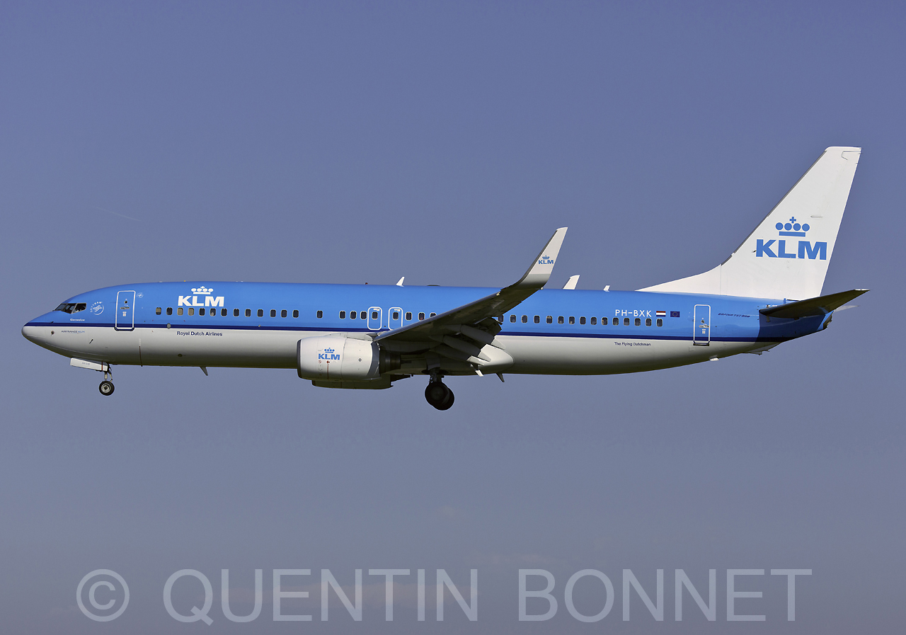 KLM Royal Dutch Airlines Boeing 737-8K2 PH-BXK