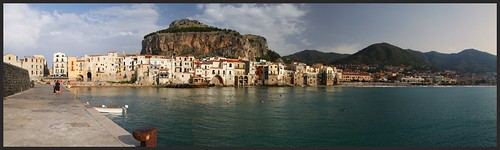 "Cefalù from the book ""Le isole lontane"" by Sergio Albeggiani"