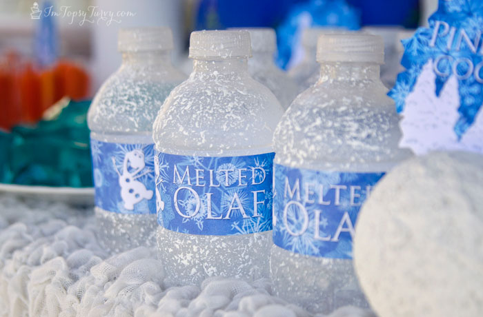 frozen-birthday-party-olaf-water-bottles