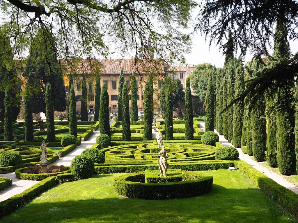 The renaissance gardens of the giardino giusti verona italy a