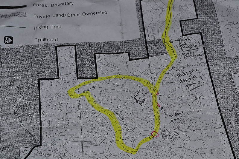 Local Treks: Marked up map