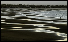Brighton sand flats at dusk-1=