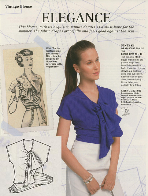 Burda May 2014 - Vintage Blouse