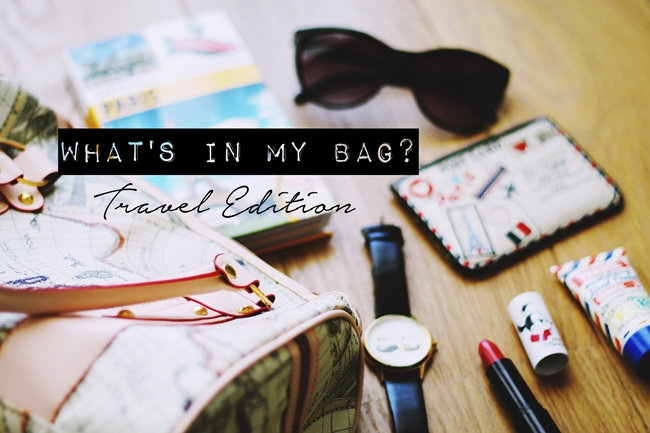 What's in my travel bag, Inside my travel bag, Pack for Paris
