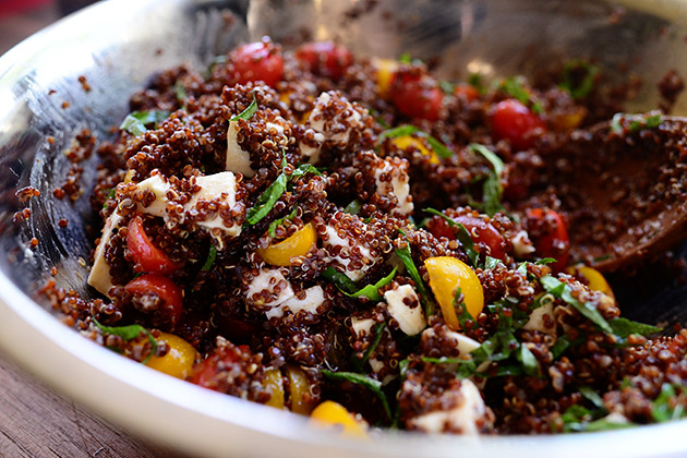 Quinoa with Tomato, Basil, and Mozzarella