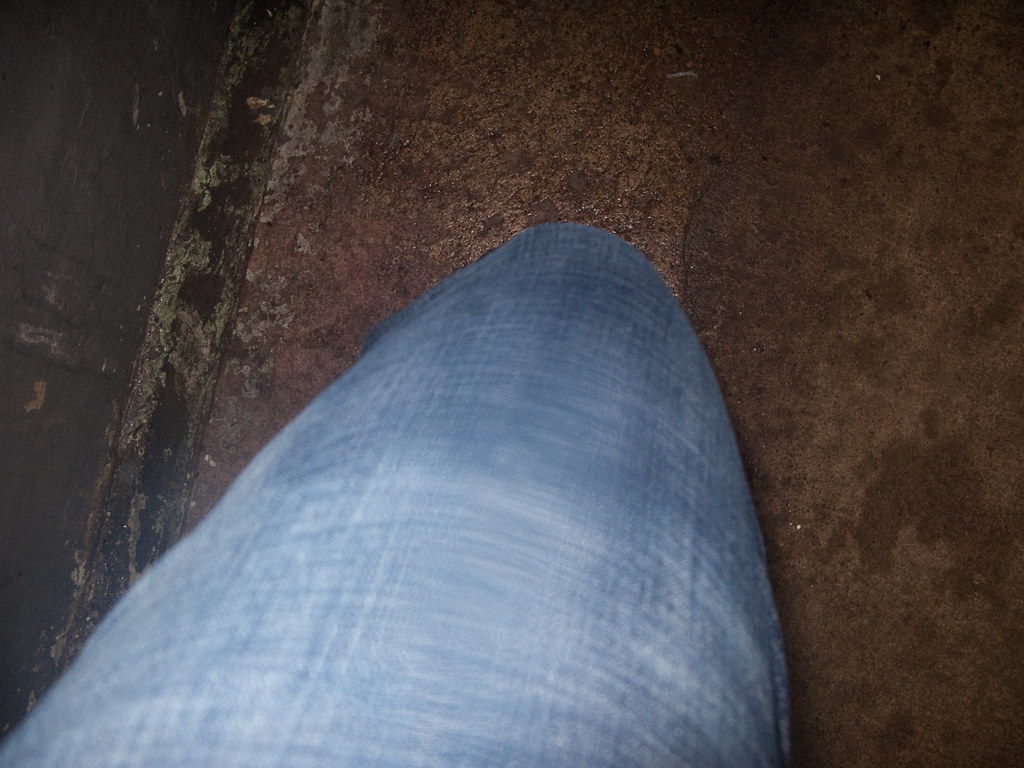 Wet jeans after Cave of the Winds at Niagara Falls
