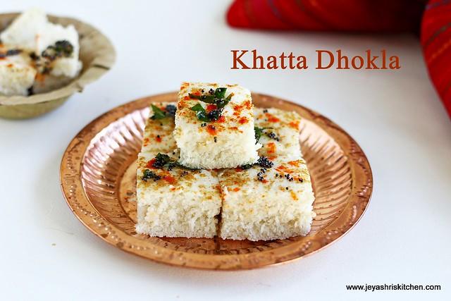 Millet-khatta-Dhokla