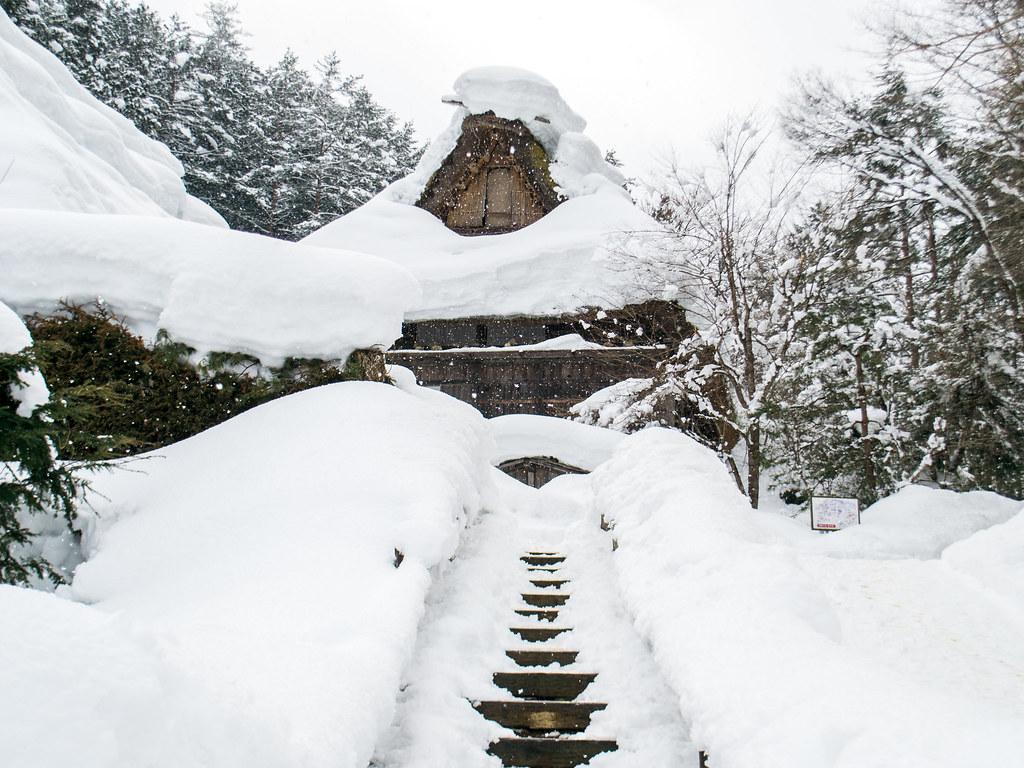 Winter Wonderland Hida Folk Village in Takayama