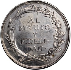 Lot 20 Carlos IV Al Merito Y Fidelidad Medal reverse