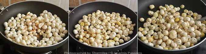 How to make roasted phool makhana - Step3