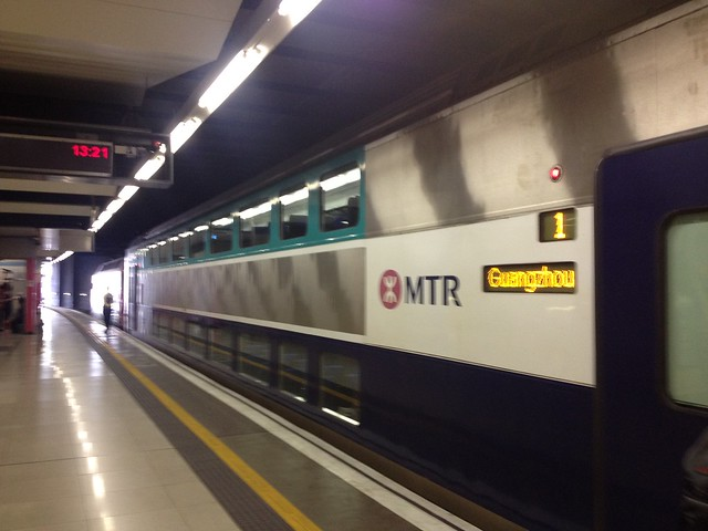 MTR from Hong Kong to Guangzhou